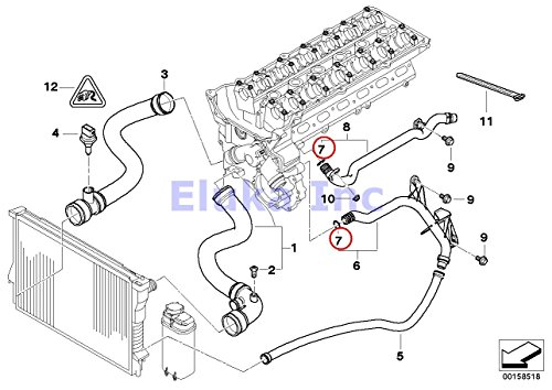 Amazon Com  4 X Bmw Cooling System Coolant Hoses O