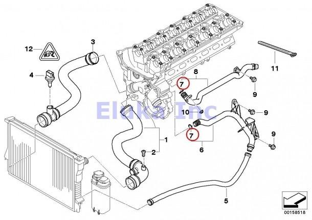 Amazon Com  4 X Bmw Genuine Cooling System Coolant Hoses O