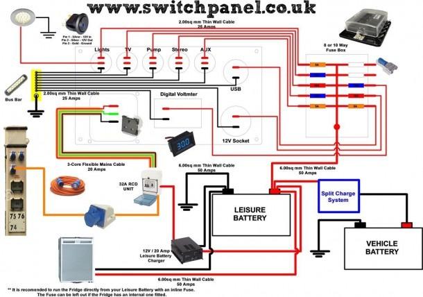 Caravan Electric Hook Up Wiring Diagram