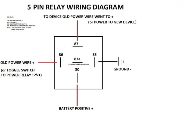 5 Wire Relay Diagram