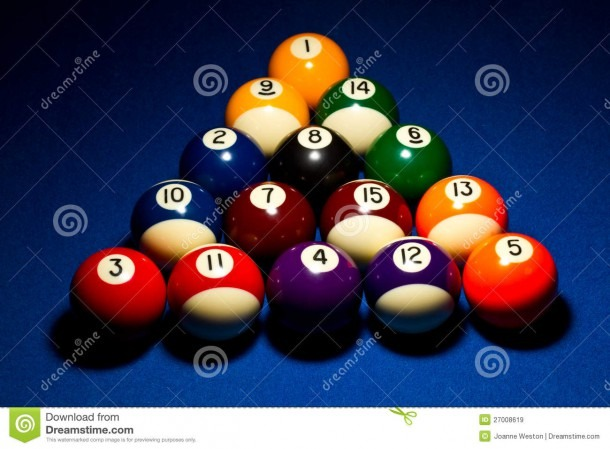 8 Ball Break Stock Image  Image Of Balls, Eight, Ball