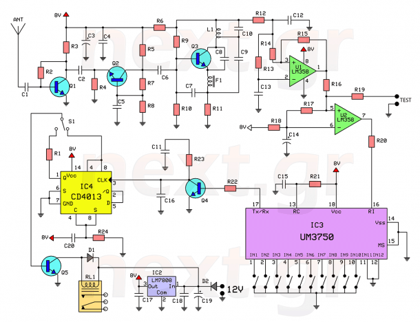 Rf Remote Control Switch Rx