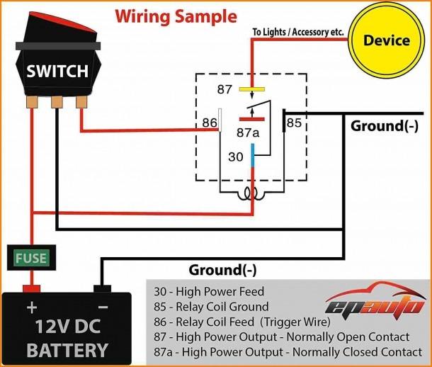 Bosch 4 Pin Relay Wiring Diagram