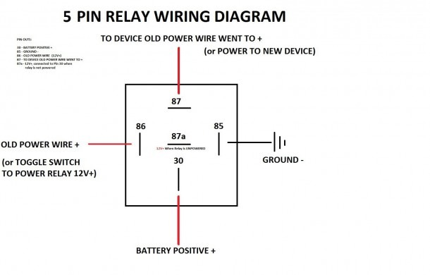 Diagram Bosch 5 Pin Relay Wiring Diagram To Driving Light And