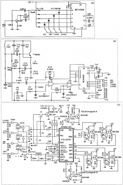 Control Card Circuit Diagram  (a) Radio Frequency Pulse Code
