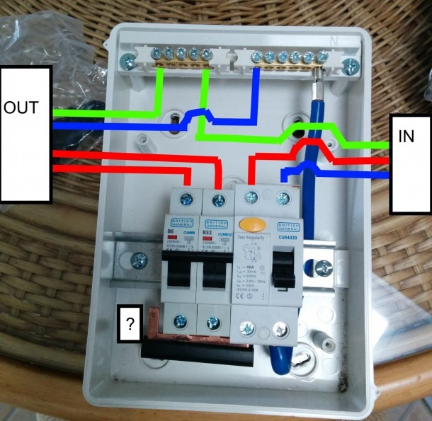 Simple Garage Consumer Wiring Diagram