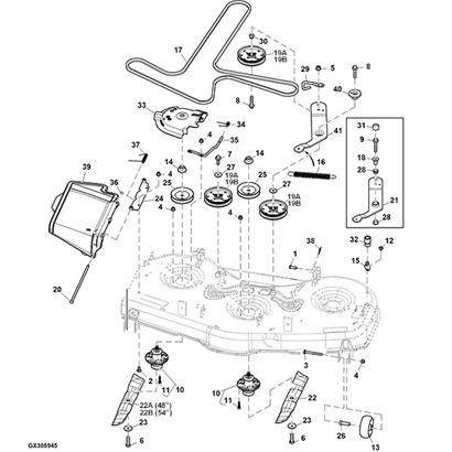 John Deere Mowing Deck Parts