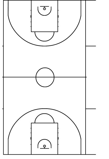 Basketball Court Fiba Diagram Canestro