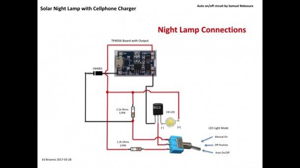 Diy Solar Night Lamp With Mobile Charger