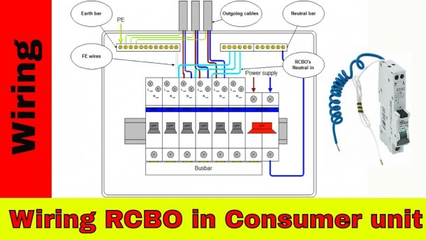 How To Wire Rcbo In Consumer Unit (uk)  Rcbo Wiring