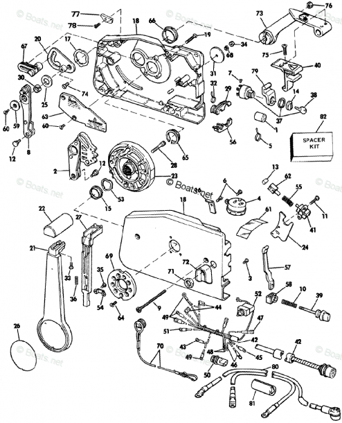 Johnson Outboard Parts By Year 1985 Oem Parts Diagram For Remote