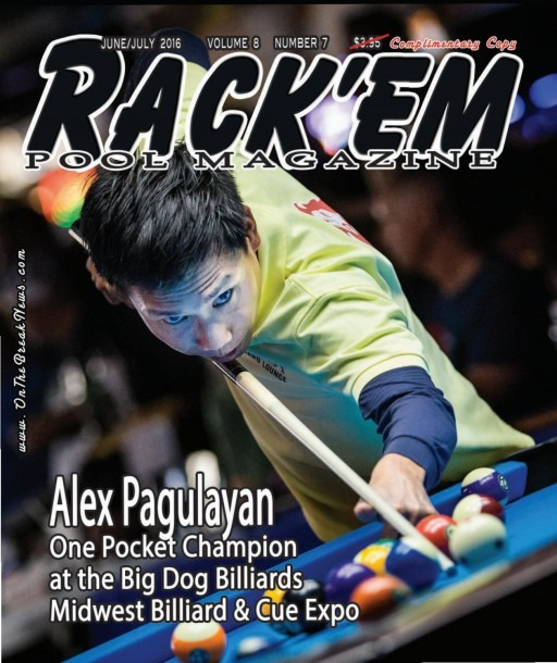 Rack'em Pool Magazine June July Issue 2016 By Rackem Magazine