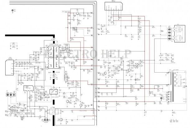 Cl21a551 Samsung Crt Tv – Circuit Diagram – Tda12120h (smd