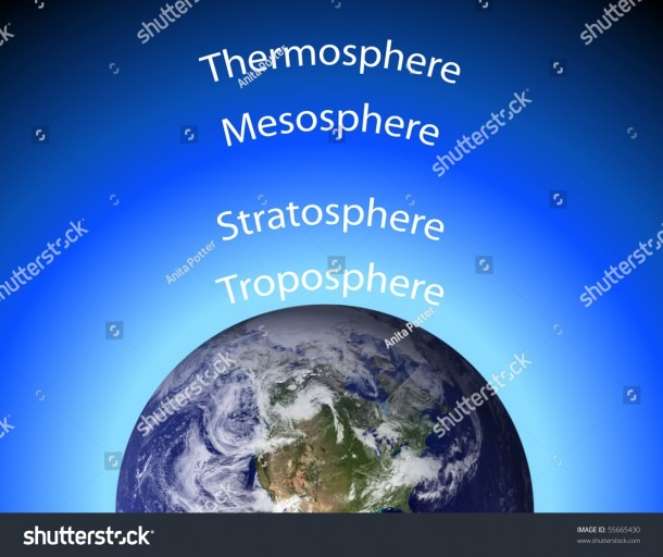 Diagram Earths Atmosphere Stock Illustration 55665430