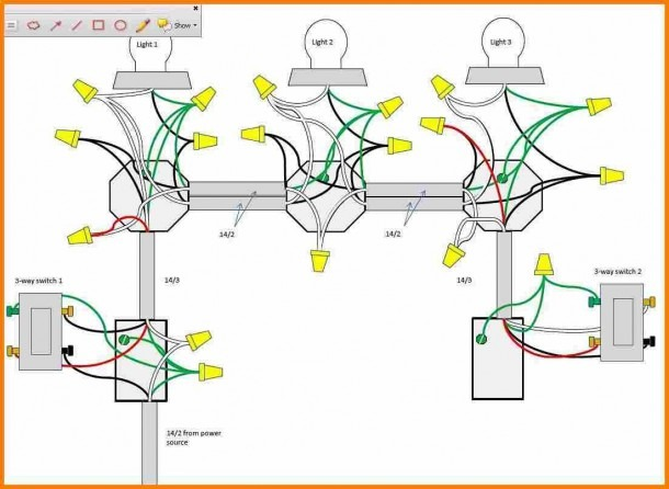 With A 3 Way Switch Wiring Multiple Lights Diagram Inside Wire