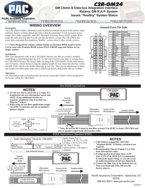 Pac C2r Gm24 Radio Wiring Diagram