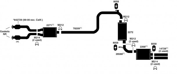 Chrysler 300m Exhaust Diagram From Best Value Auto Parts