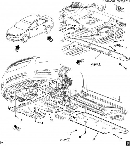 2011 Chevy Cruze Engine Diagram