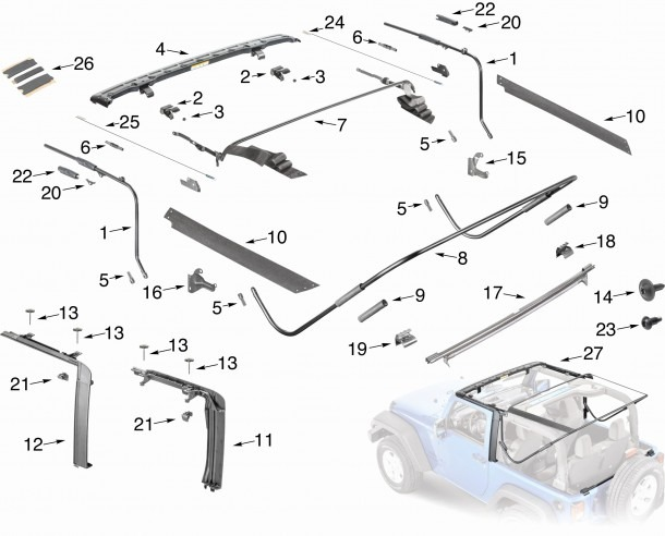1997 Jeep Wrangler Parts Unique 1997 Jeep Wrangler Parts Diagram