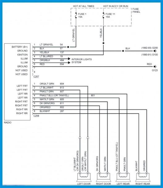 99 Mustang Speaker Wiring Diagram