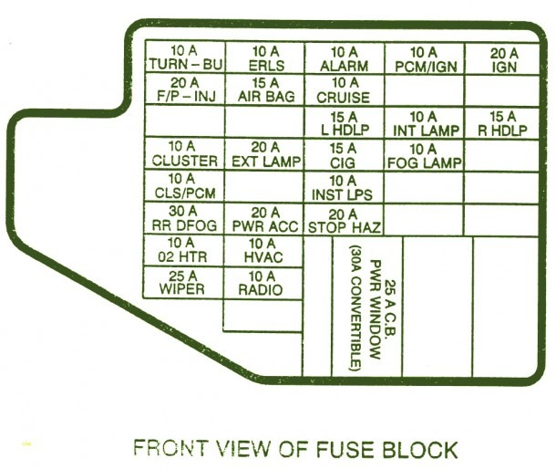 2004 Jeep Fuse Diagram