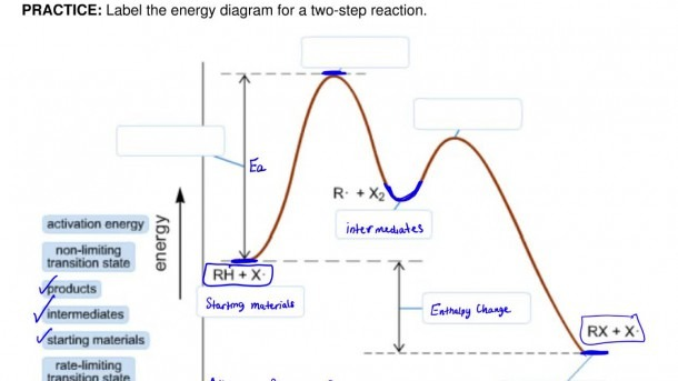Answer  Label The Energy Diagram For A Two