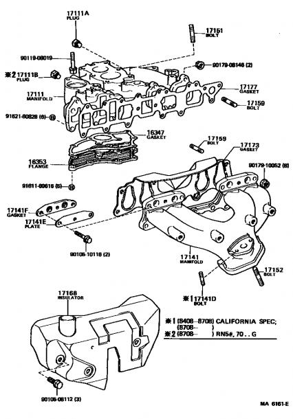 22re Intake Manifold Diagram