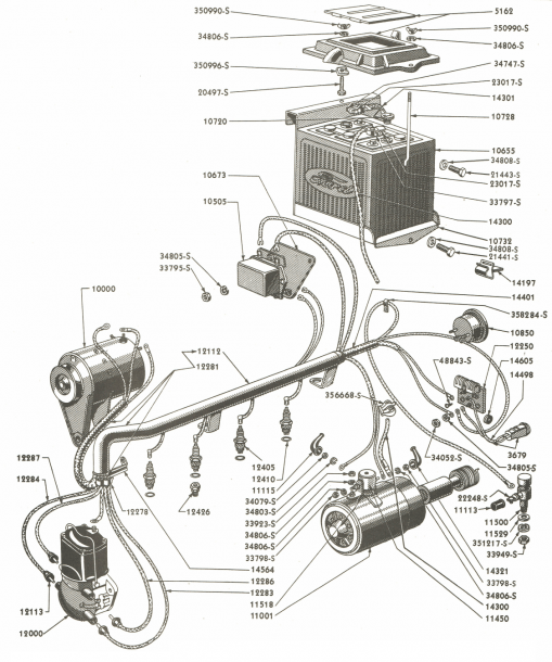 Wiring Parts For Ford 9n & 2n Tractors (1939