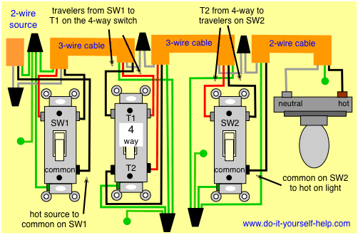3 Way 4 Switch Wiring Diagram Ask The