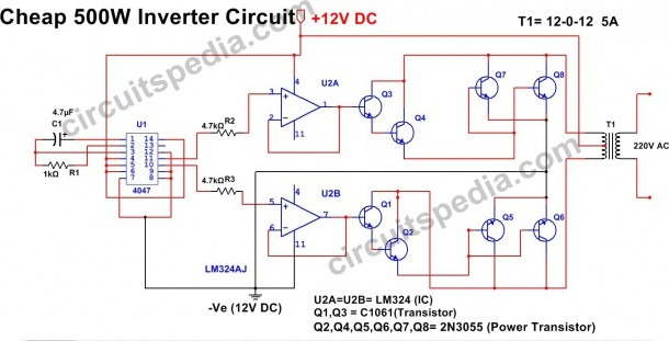 500w Inverter Circuit