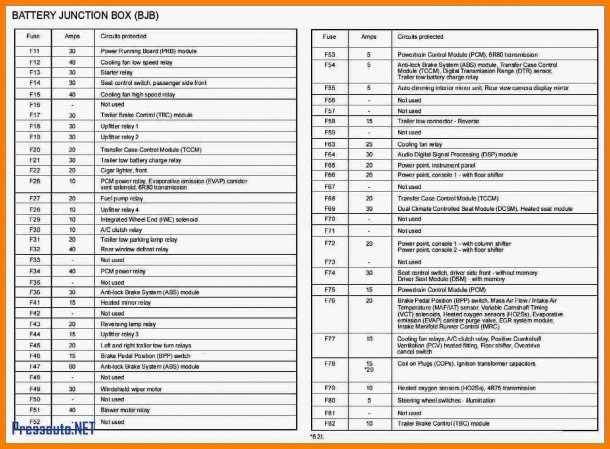 2012 F 150 Fuse Box Diagram