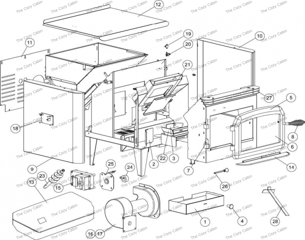 Whitfield Pellet Stove Parts Diagram