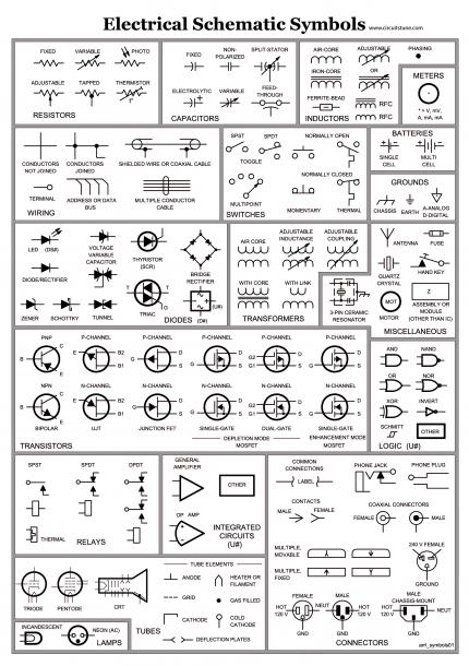 Power Wiring Diagram Symbols
