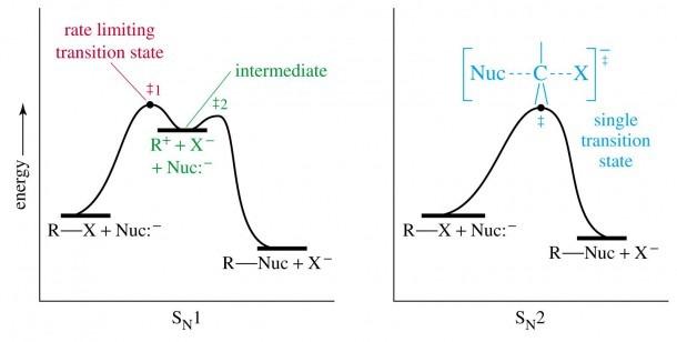 Energy Diagrams Sn1 And Sn2