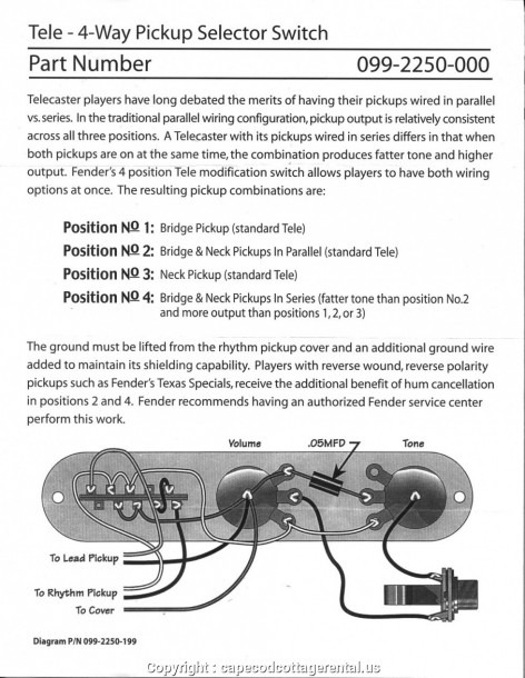 Advanced Telecaster Wiring Diagram 4 Way Switch 10796 For