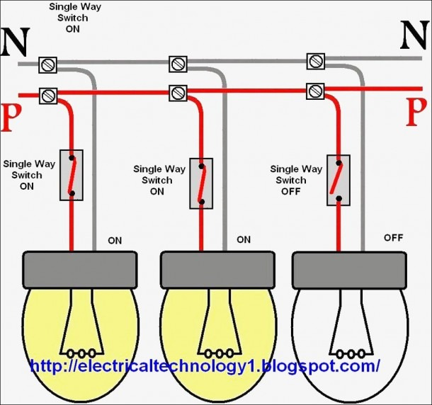 Wiring One Switch Diagram Multiple Lights On