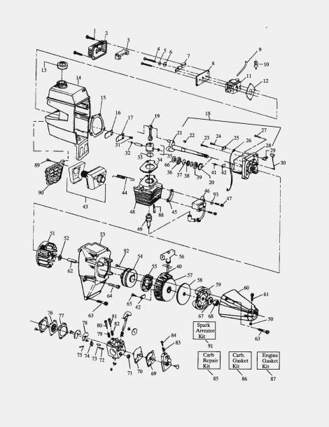 Craftsman 32cc Weedwacker Fuel Line Diagram