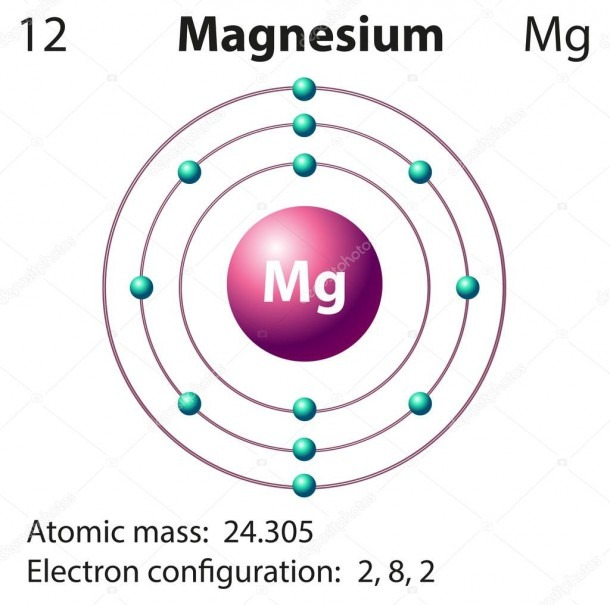 Diagram Representation Of The Element Magnesium — Stock Vector