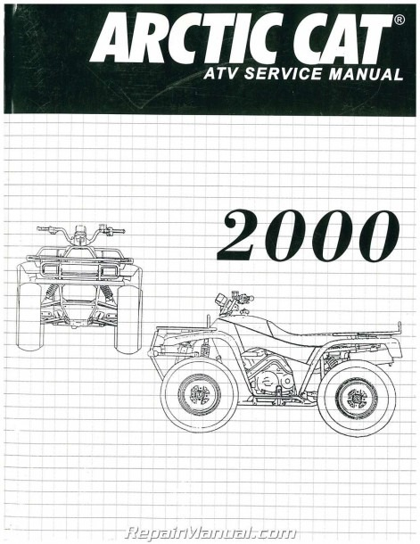 2000 Arctic Cat 250 300 400 500 Atv Service Manual