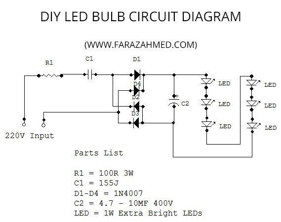 Led Bulb Circuit Diagrams