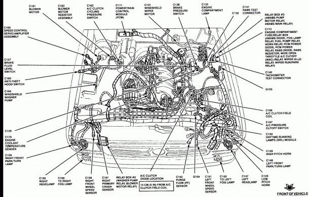 ford ranger brake line diagram