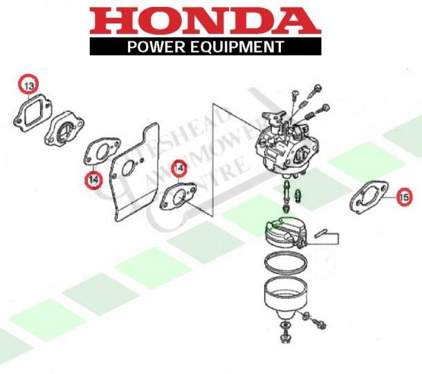 Honda Izy Carburettor Gasket Kit (gcv135 Gcv160)