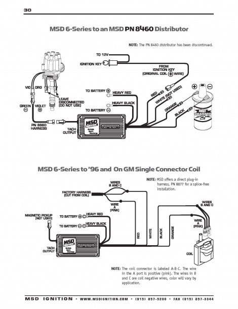 Ignition Coil Distributor Wiring Diagram New Msd Distributor
