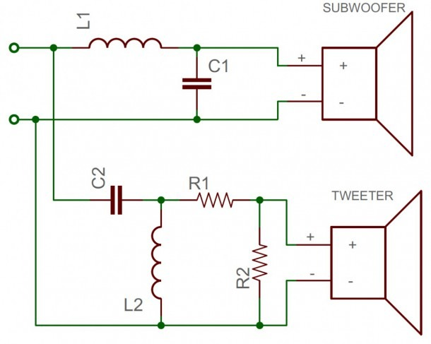 Subwoofer Wiring Diagram With Capacitor