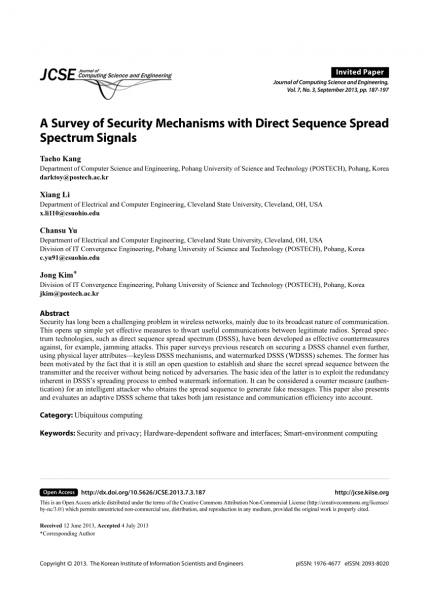 Watermarked Direct Sequence Spread Spectrum (dsss) System Model