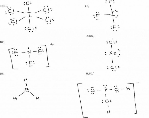 Lewis Dot Structure Worksheet With Answers General Chemistry