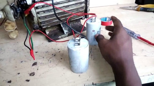 Capacitor Start & Run Motor Connection  How To Connect Single