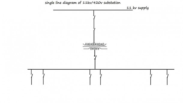 Single Line Diagram Of 11kv⁄44ov Substation  Electrical  How It