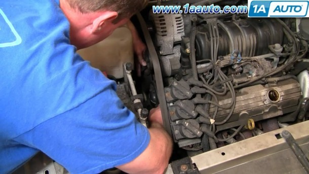 How To Install Repair Replace Serpentine Engine Belt Buick Lesabre