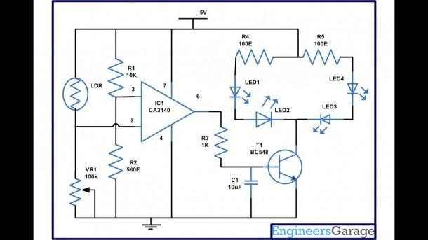 Lamp Using Ca3140 Ic